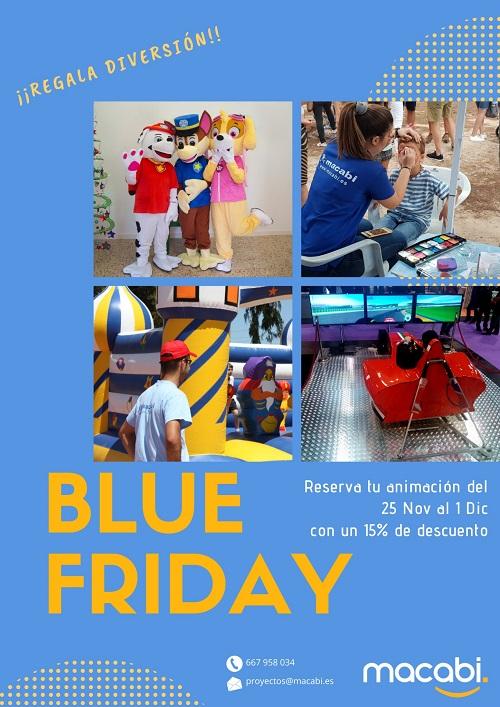 Obten un descuento del Blue Friday